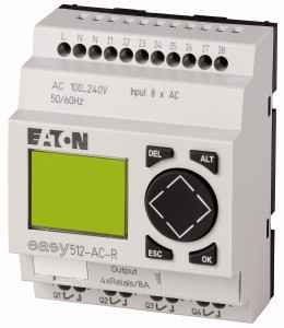 Eaton Moeller EASY512-AC-R Steuerrelais easy500 mit Display, 100-240VAC, 8DI, 4DO-Relais, Display 274103 VPE= 1